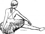 On Ballerina Girl Coloring Page