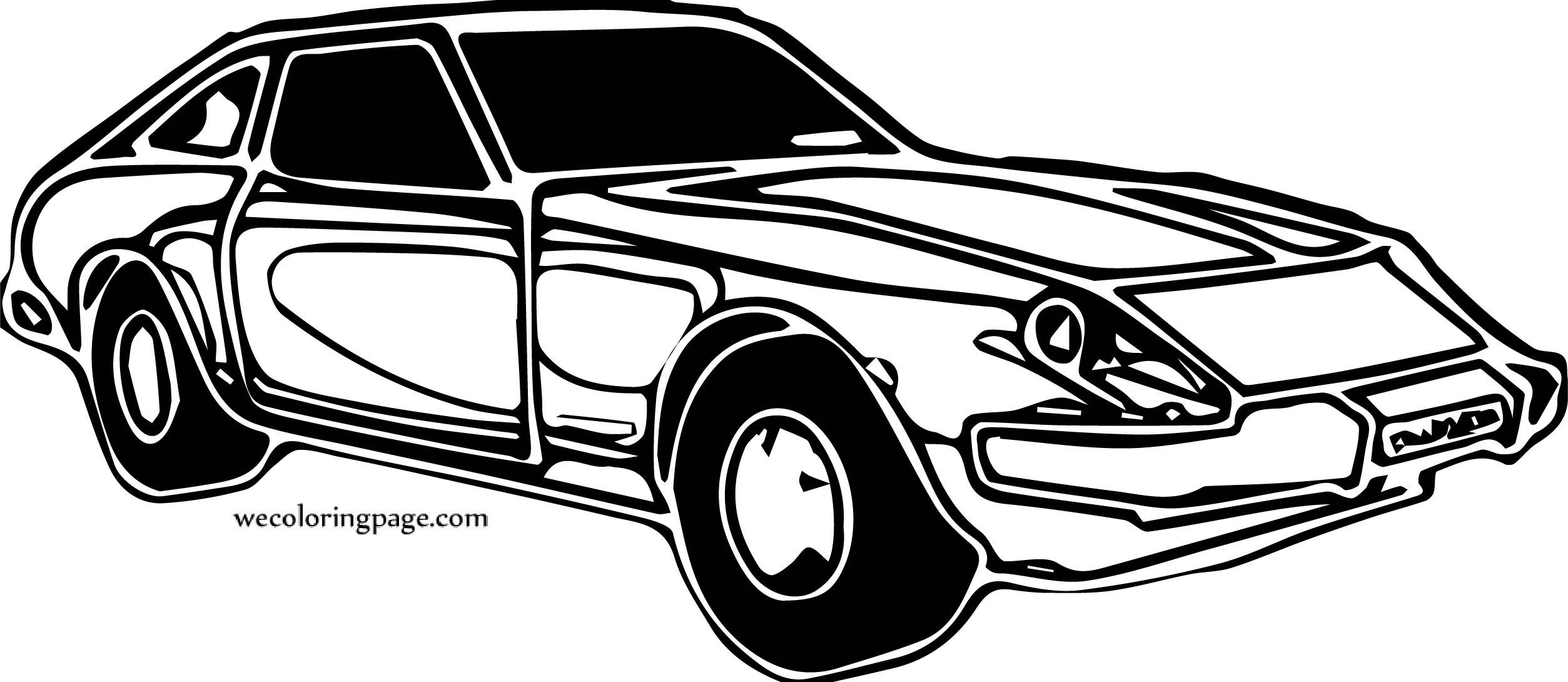 One A Car Coloring Page