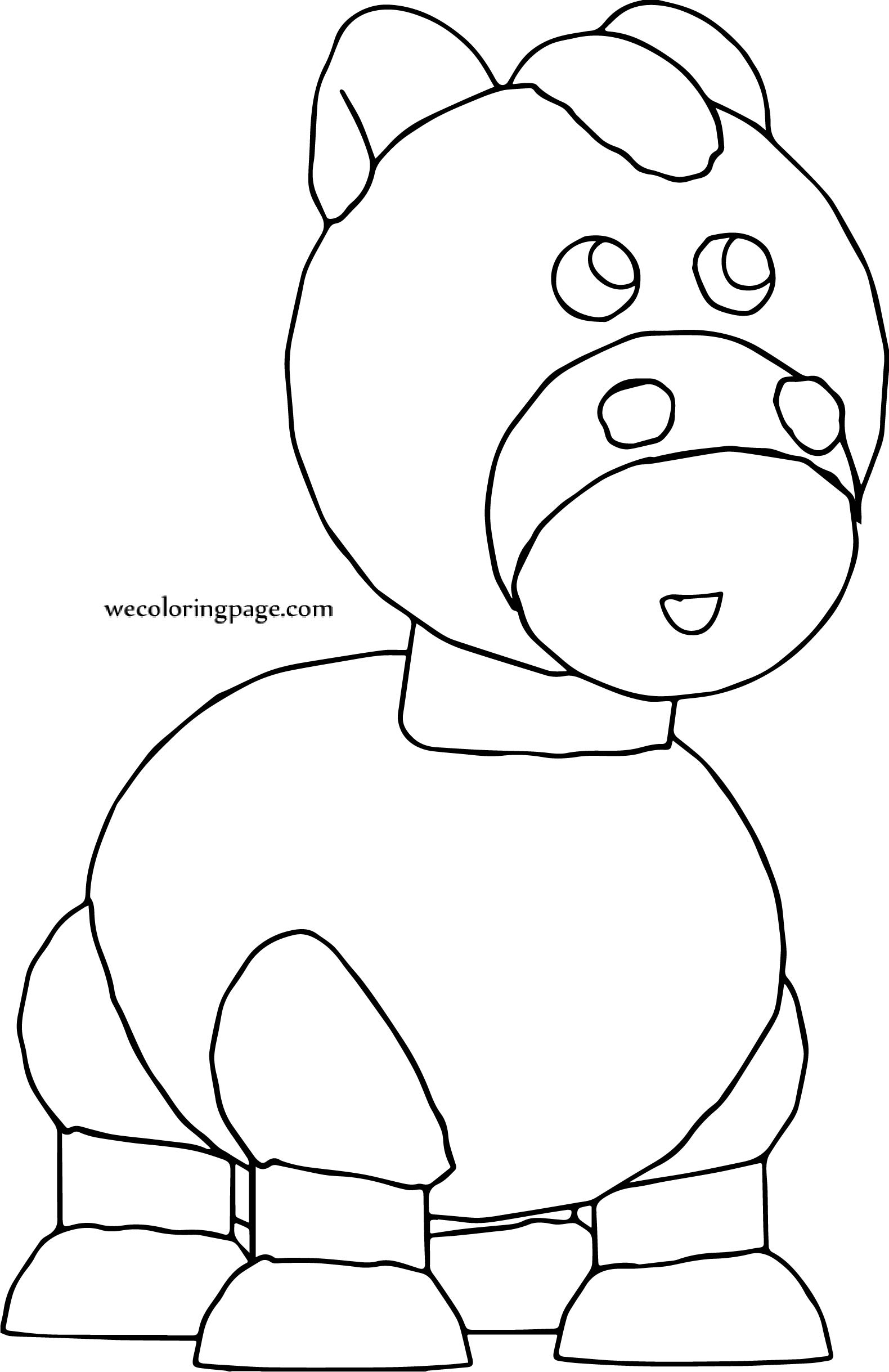 One Horse Cartoon Coloring Page