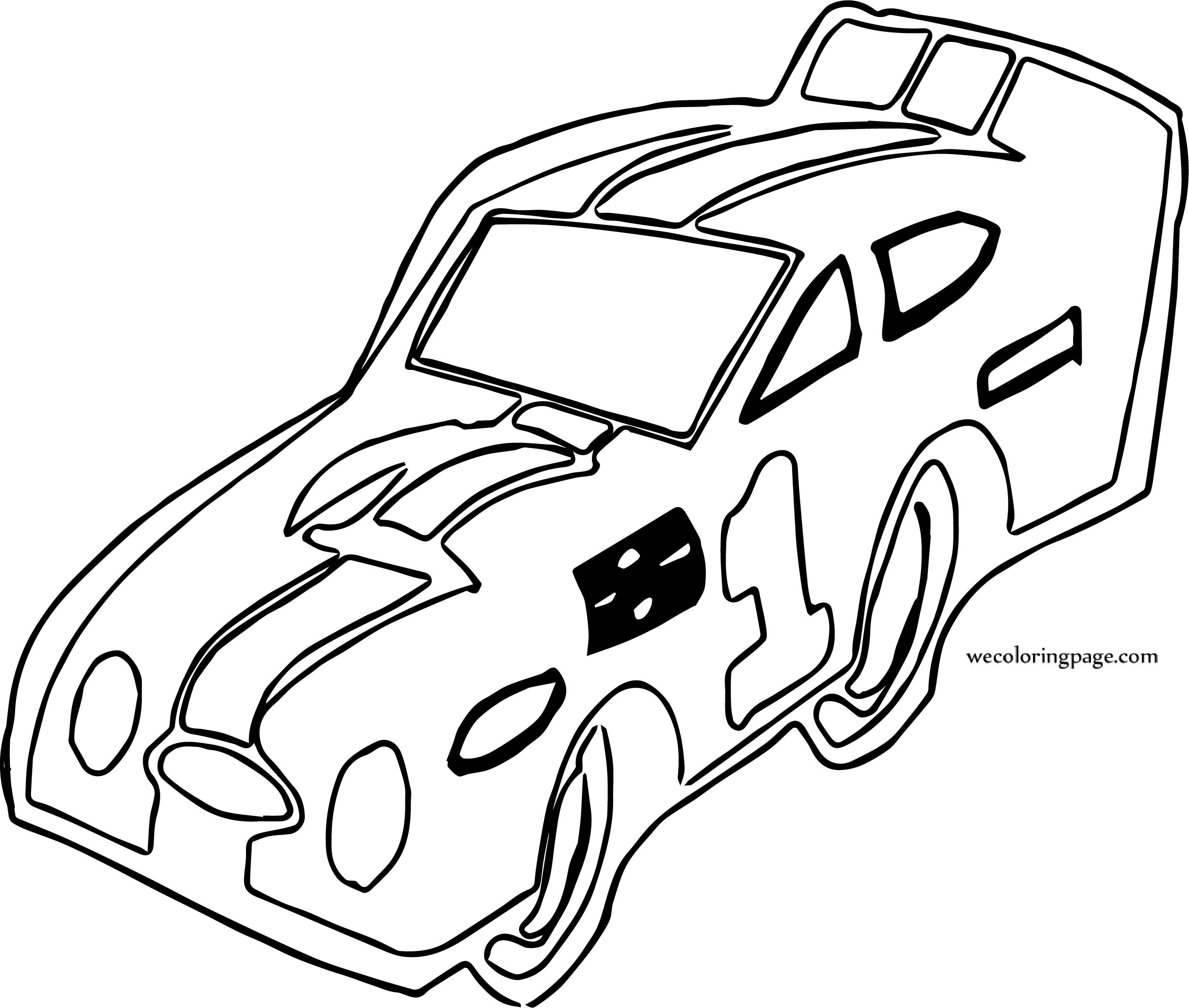 Outline Sport Car Coloring Page