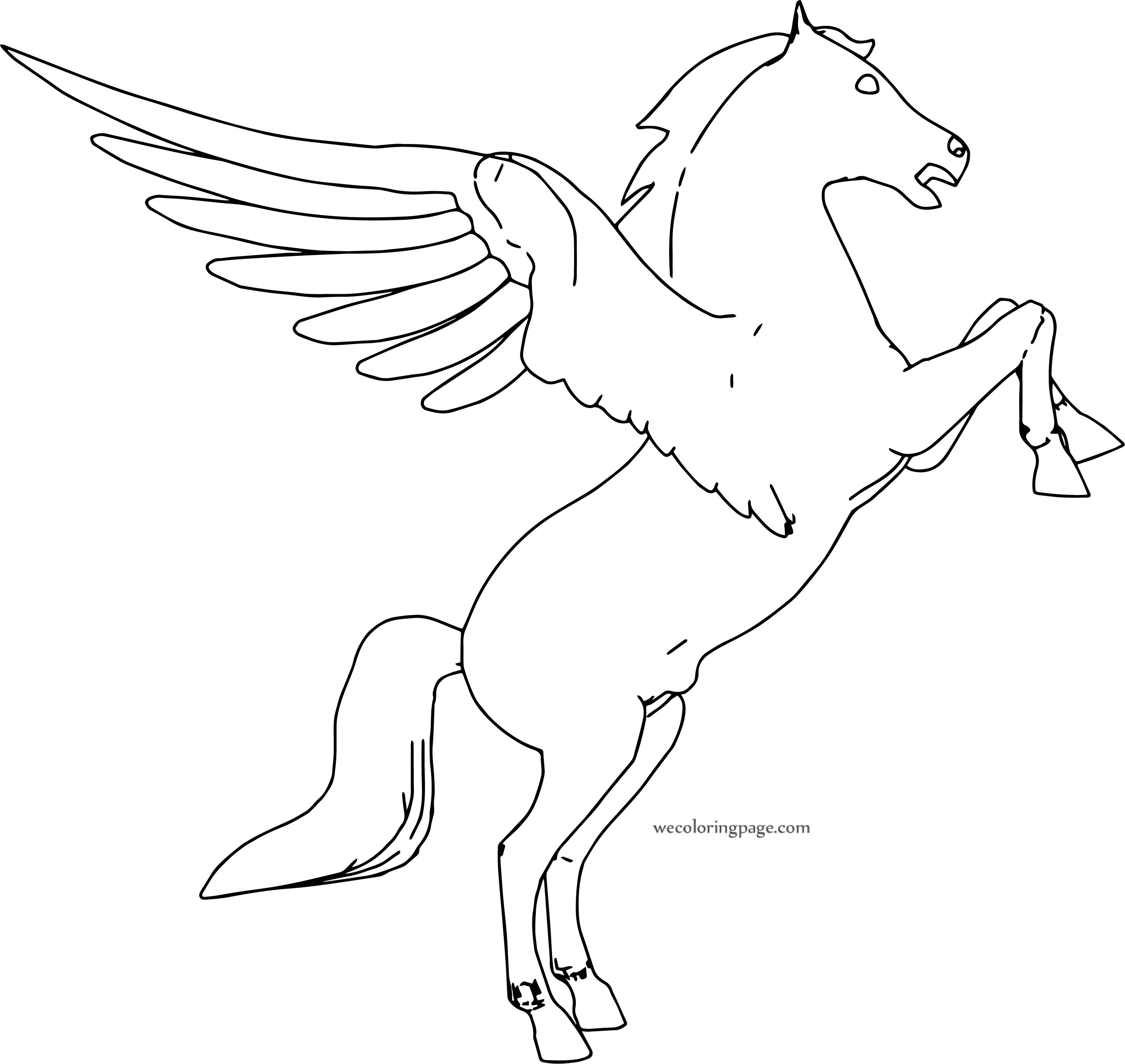 Pegasus Up Coloring Page