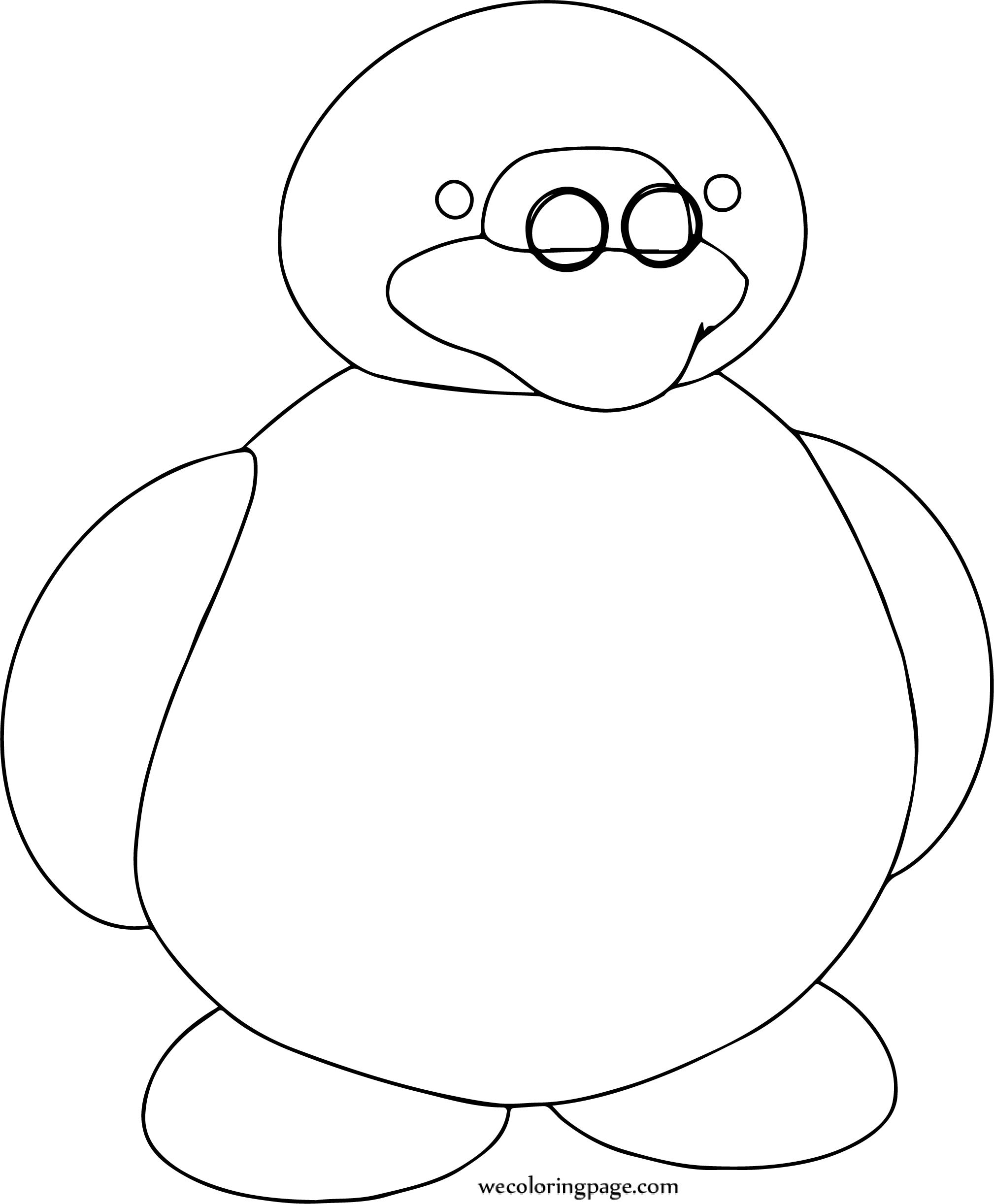 Penguin Glasses Coloring Page