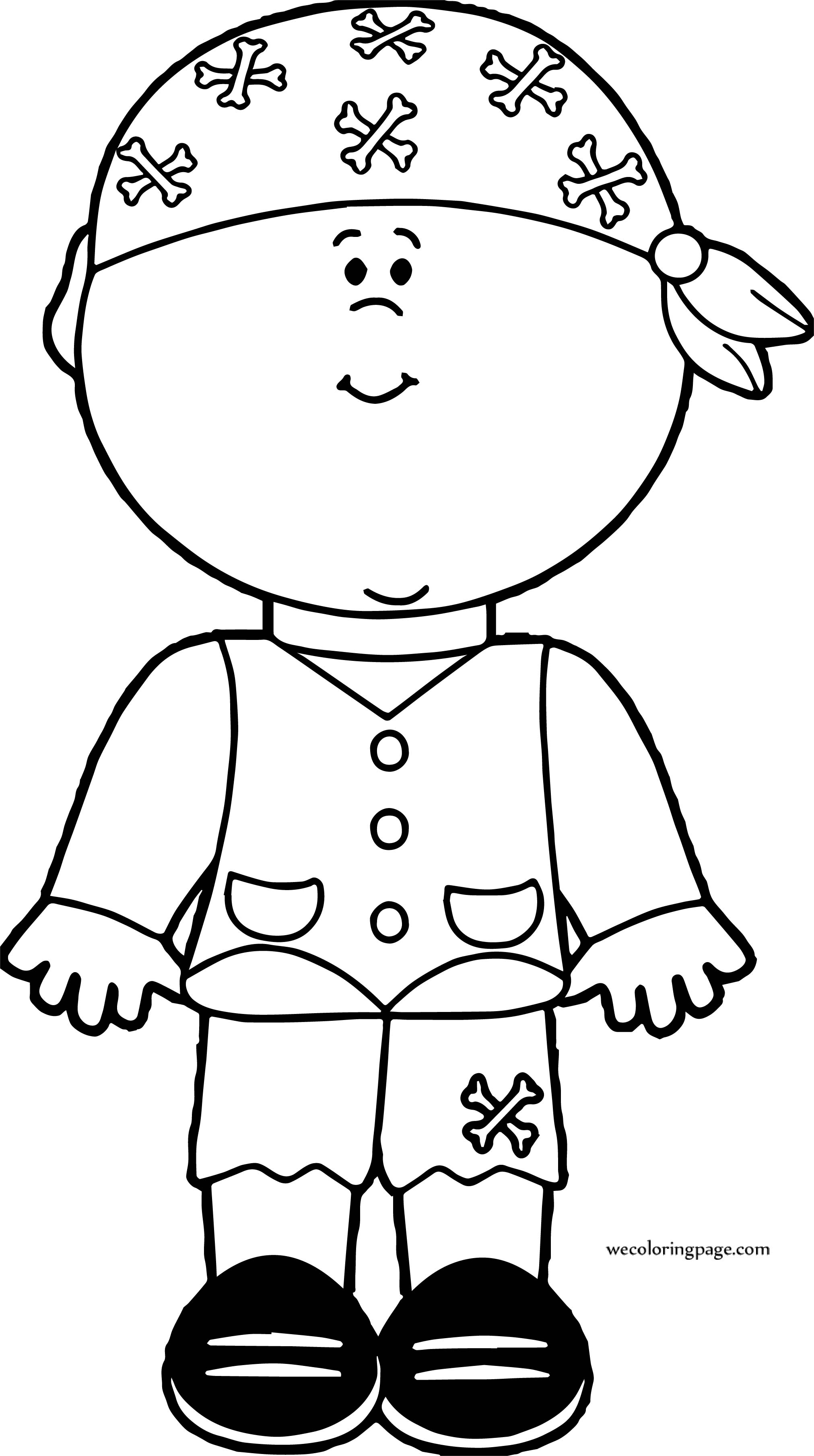 Pirate Boy Coloring Page