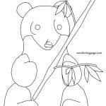 Playing Panda Coloring Pages