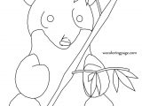 Playing Panda Coloring Pages