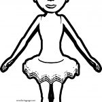 Realistic Ballerina Front Vew Coloring Page