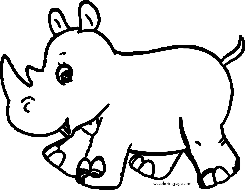 Rhinoceros Elephant Coloring Page