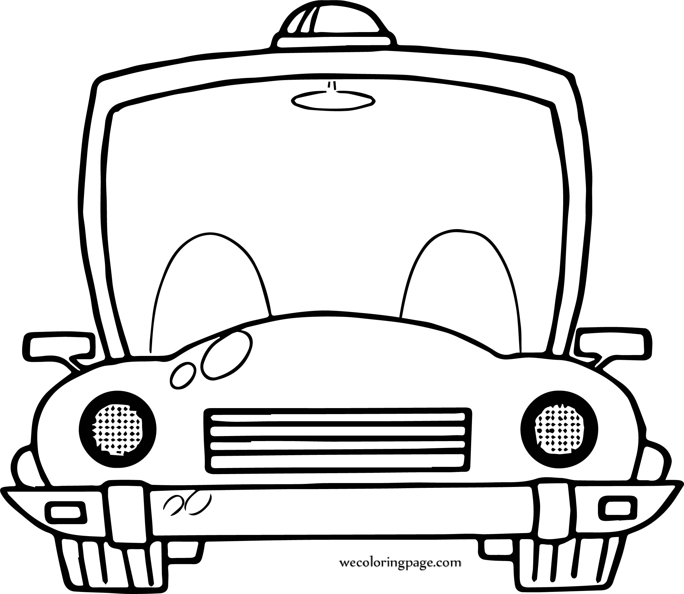 Right Car Coloring Page