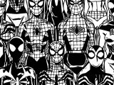 Robot Spider Man Coloring Page