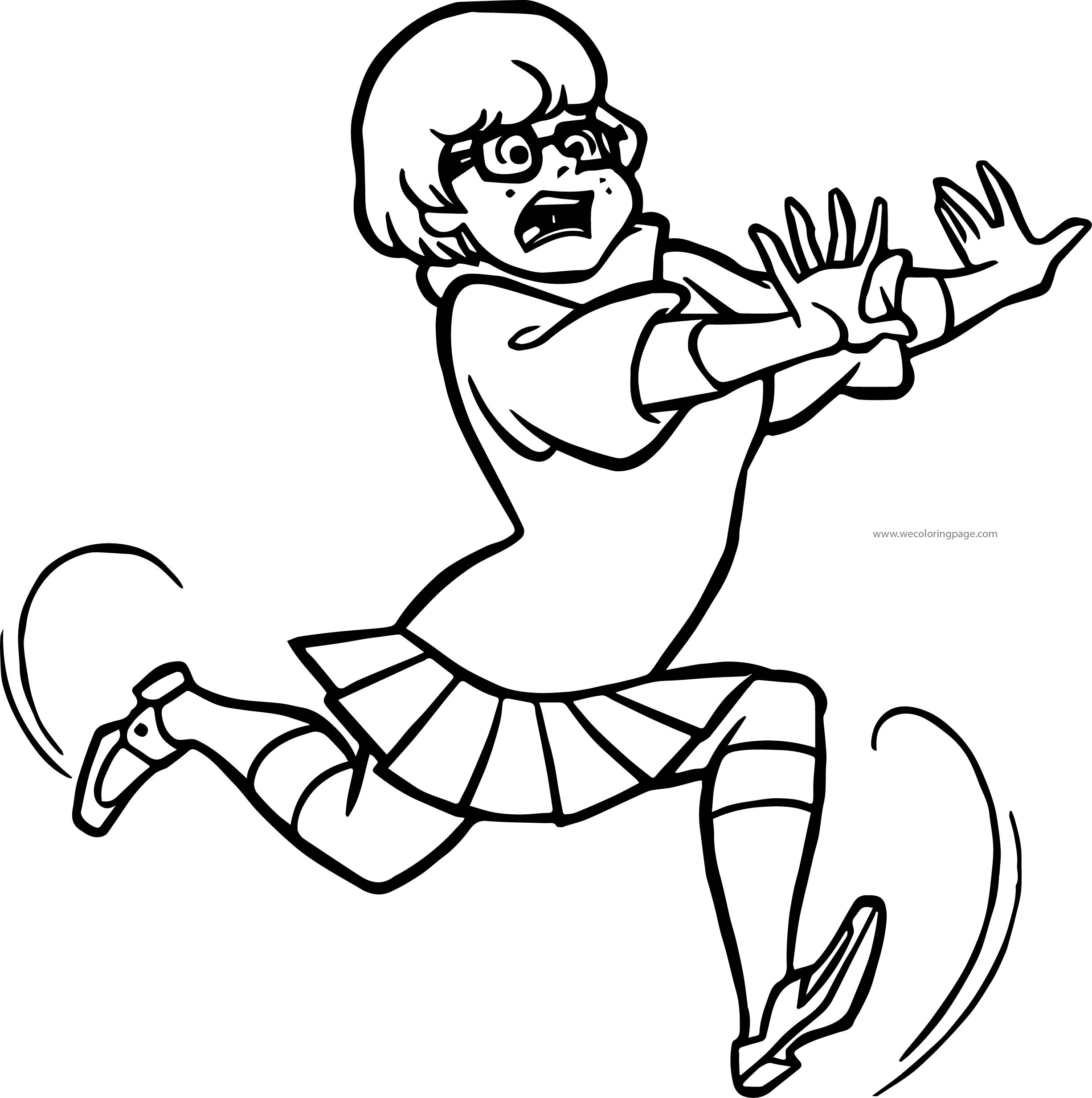 Running Velma Dinkley Scooby Doo Coloring Page