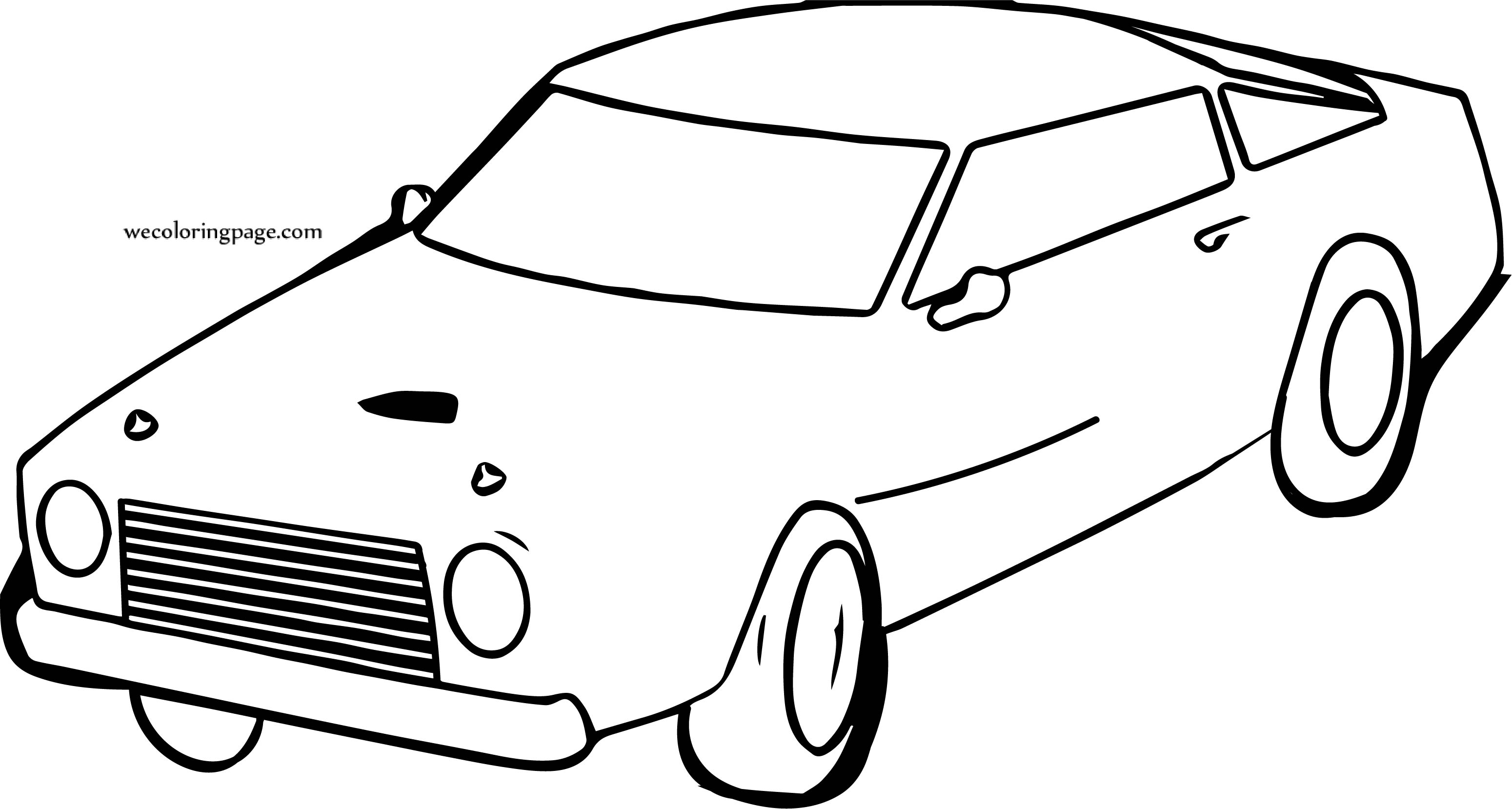Same Car Coloring Page
