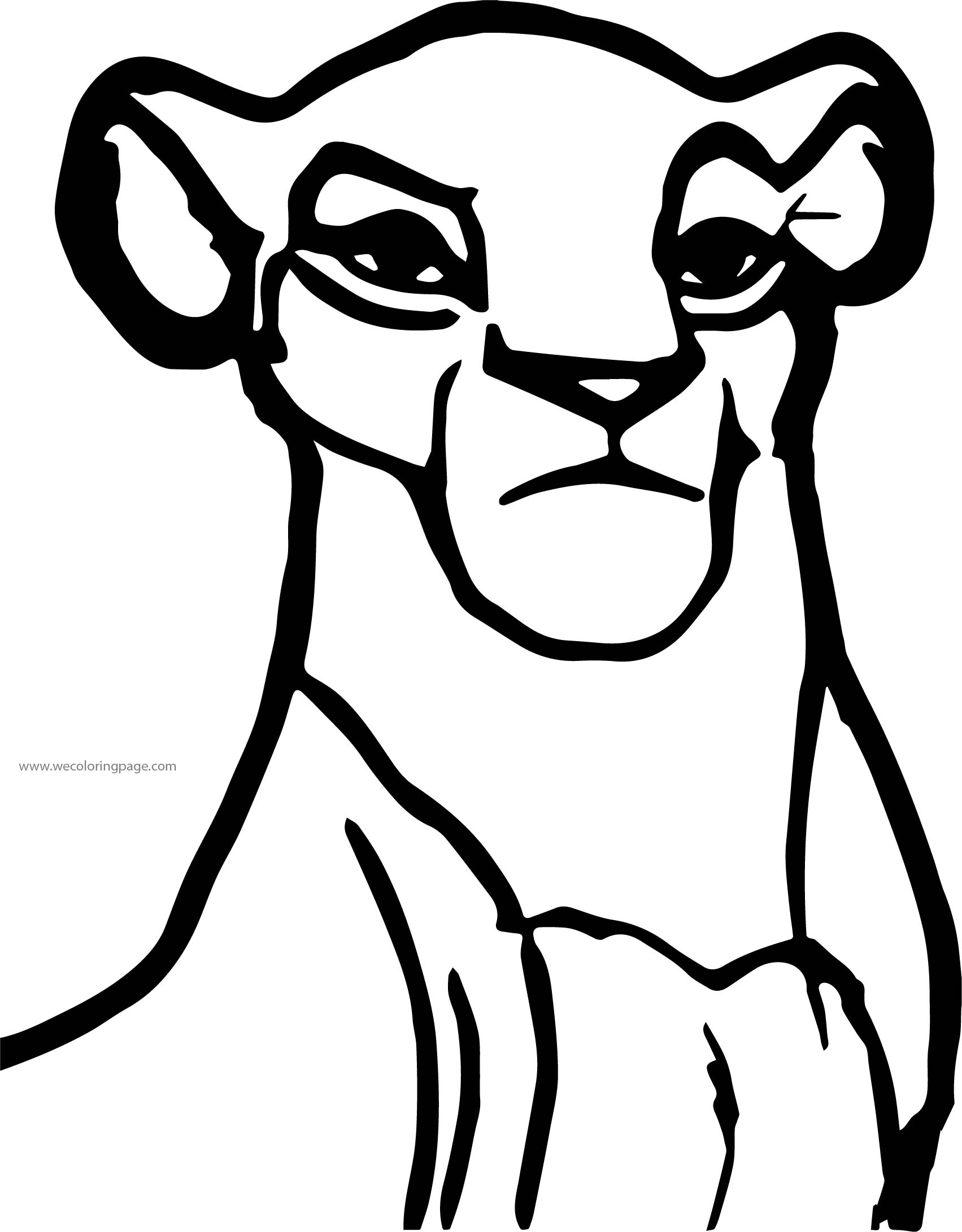 Sarafina Front View Coloring Page
