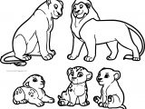Sarafina Lion King Family Adopt Coloring Page