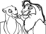Sarafina Lion King Scene Coloring Page