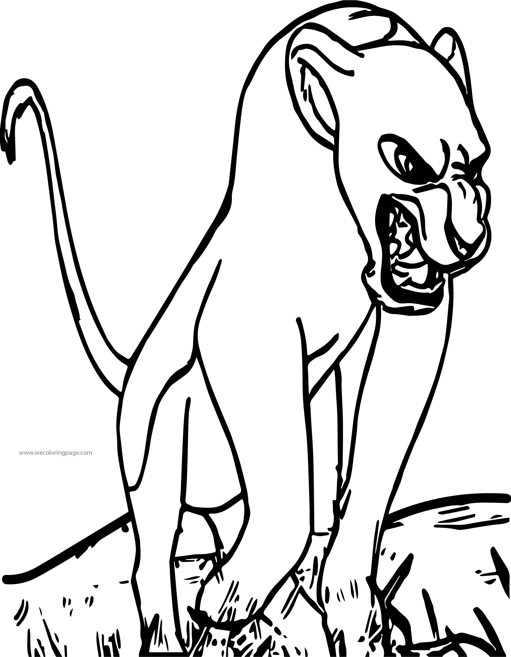 Sarafina Wild Lion King Coloring Page