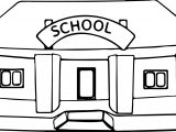 School Building Bend Coloring Page
