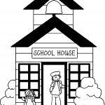 School Buildings Coloring Page