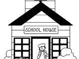School Buildings Coloring Page