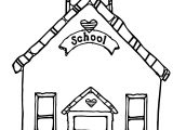 School House Clipart Free Coloring Page