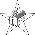 Schools Barn Star Coloring Page