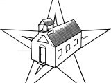 Schools Barn Star Coloring Page