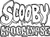 Scooby Apocalypse Text Coloring Page