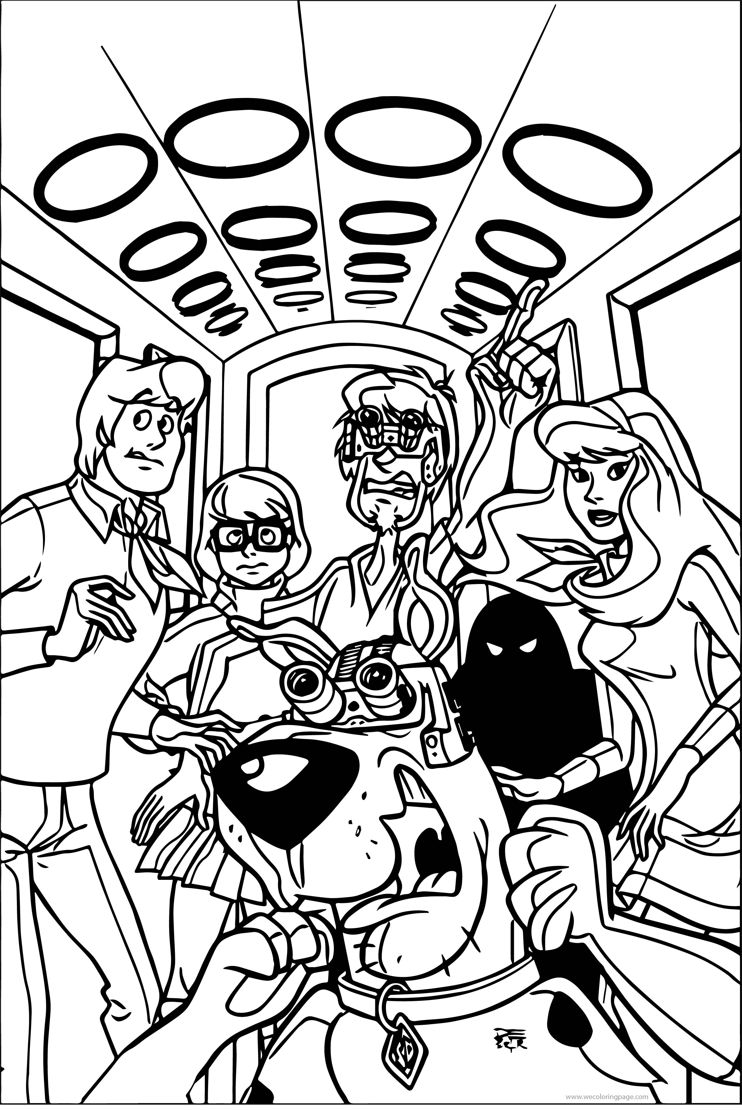 Scooby Doo (DC Comics) Textless Front Cover Coloring Page