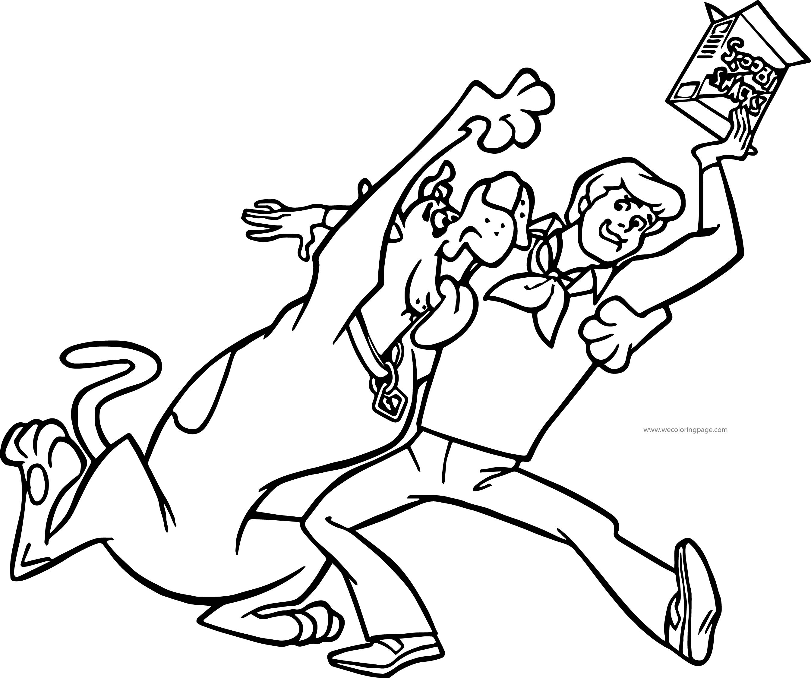 Scooby Doo Snacks Coloring Page