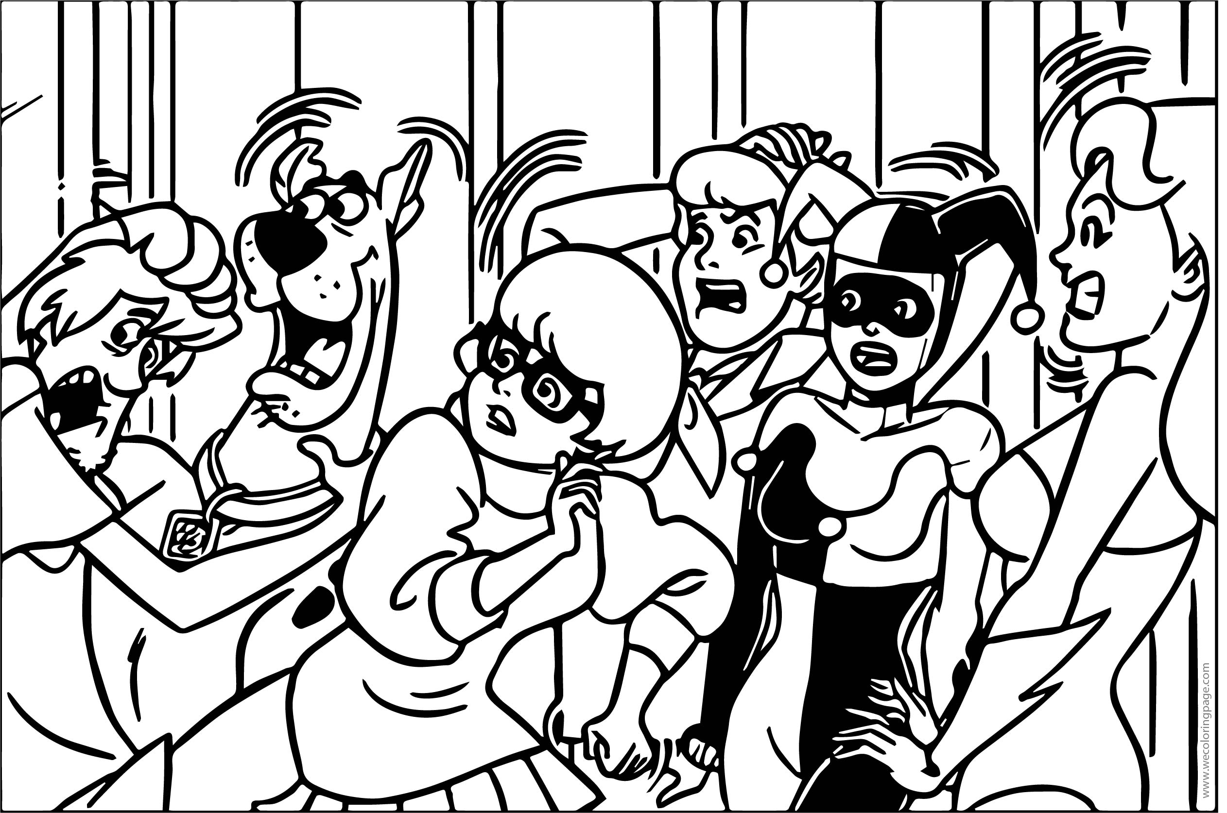 Scooby Doo Team Scream Coloring Page