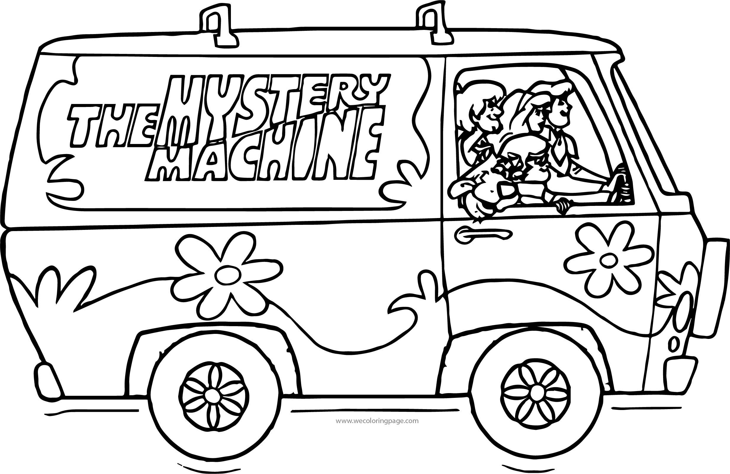 Scooby Doos Side Car Coloring Page