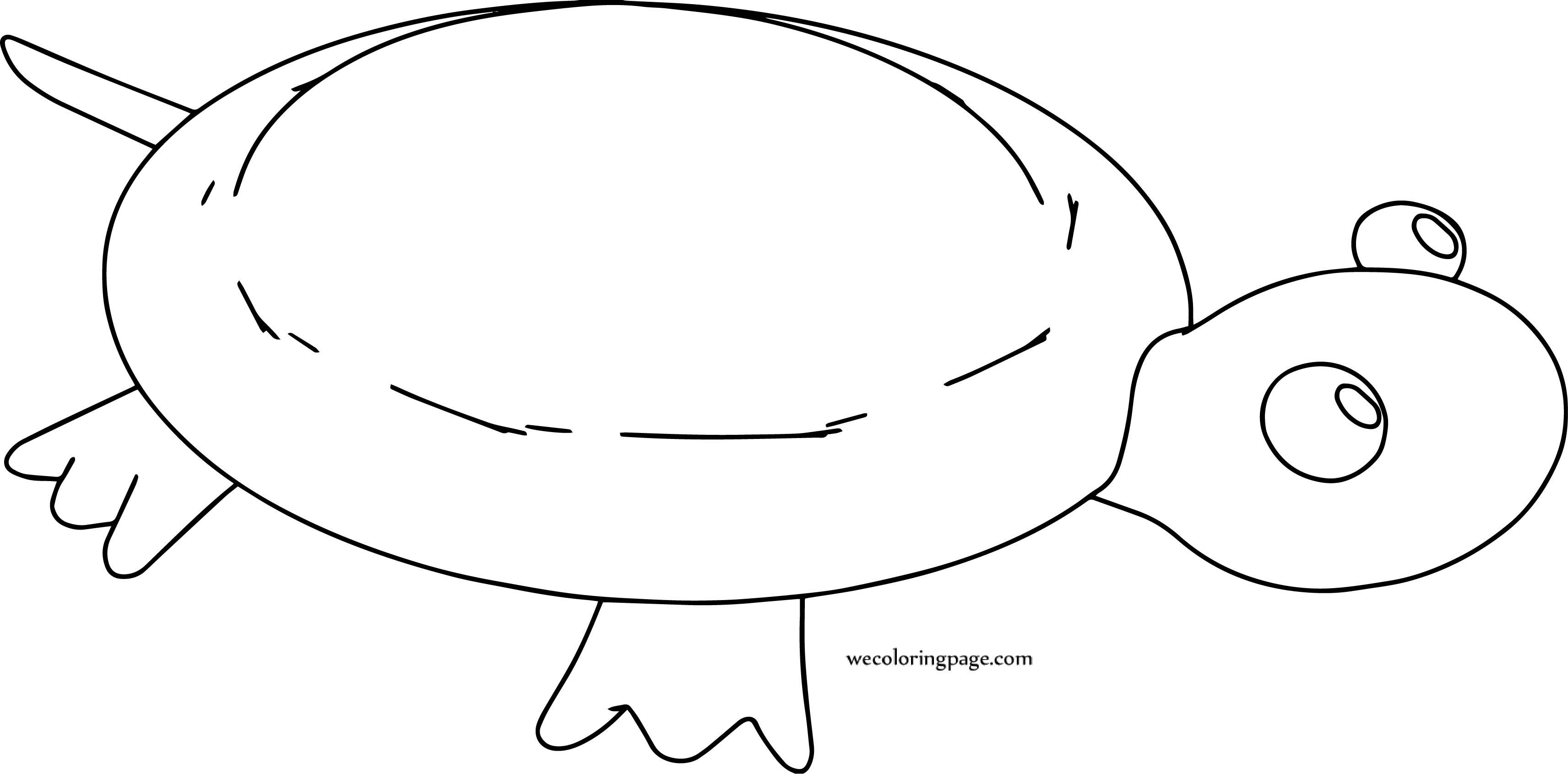 Sea Turtle Cartoon Coloring Page