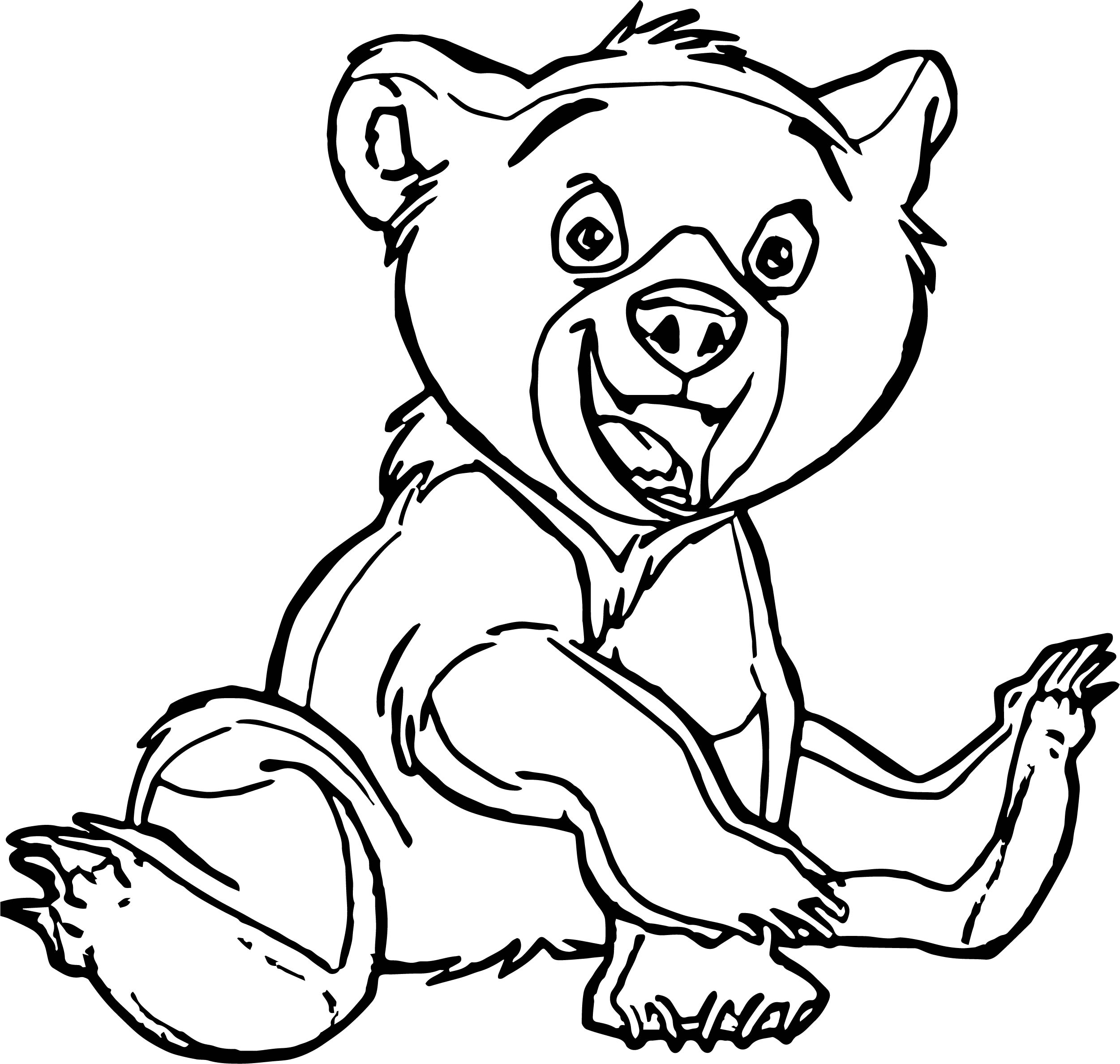 Set Bear Coloring Page