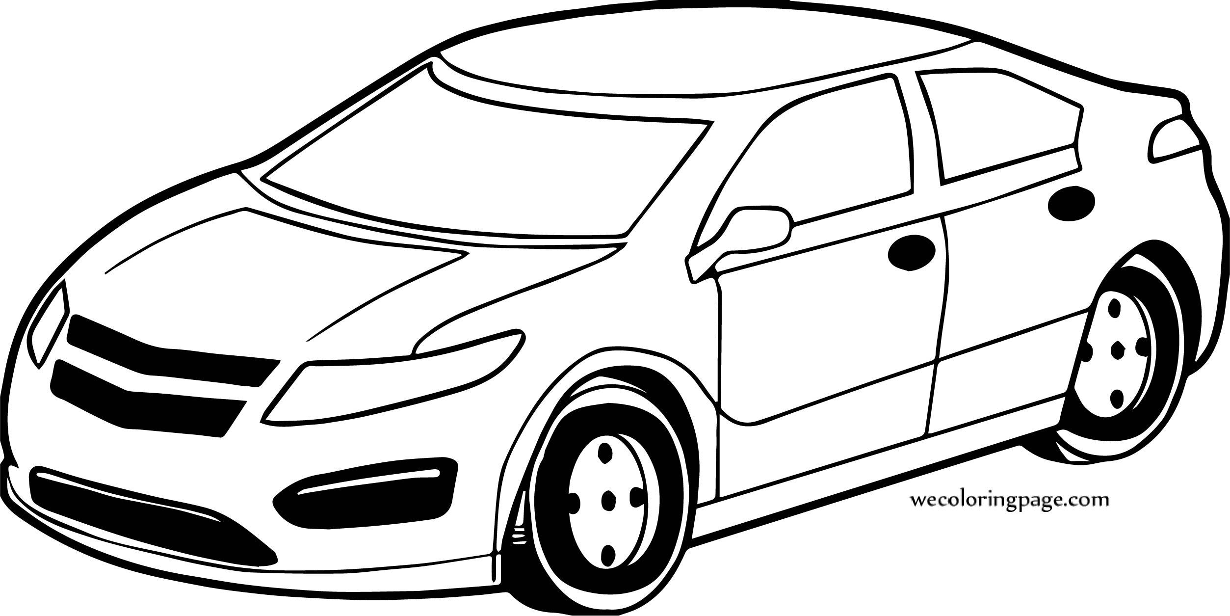 Set Car Coloring Page