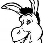 Shrek Donkey Face Coloring Page