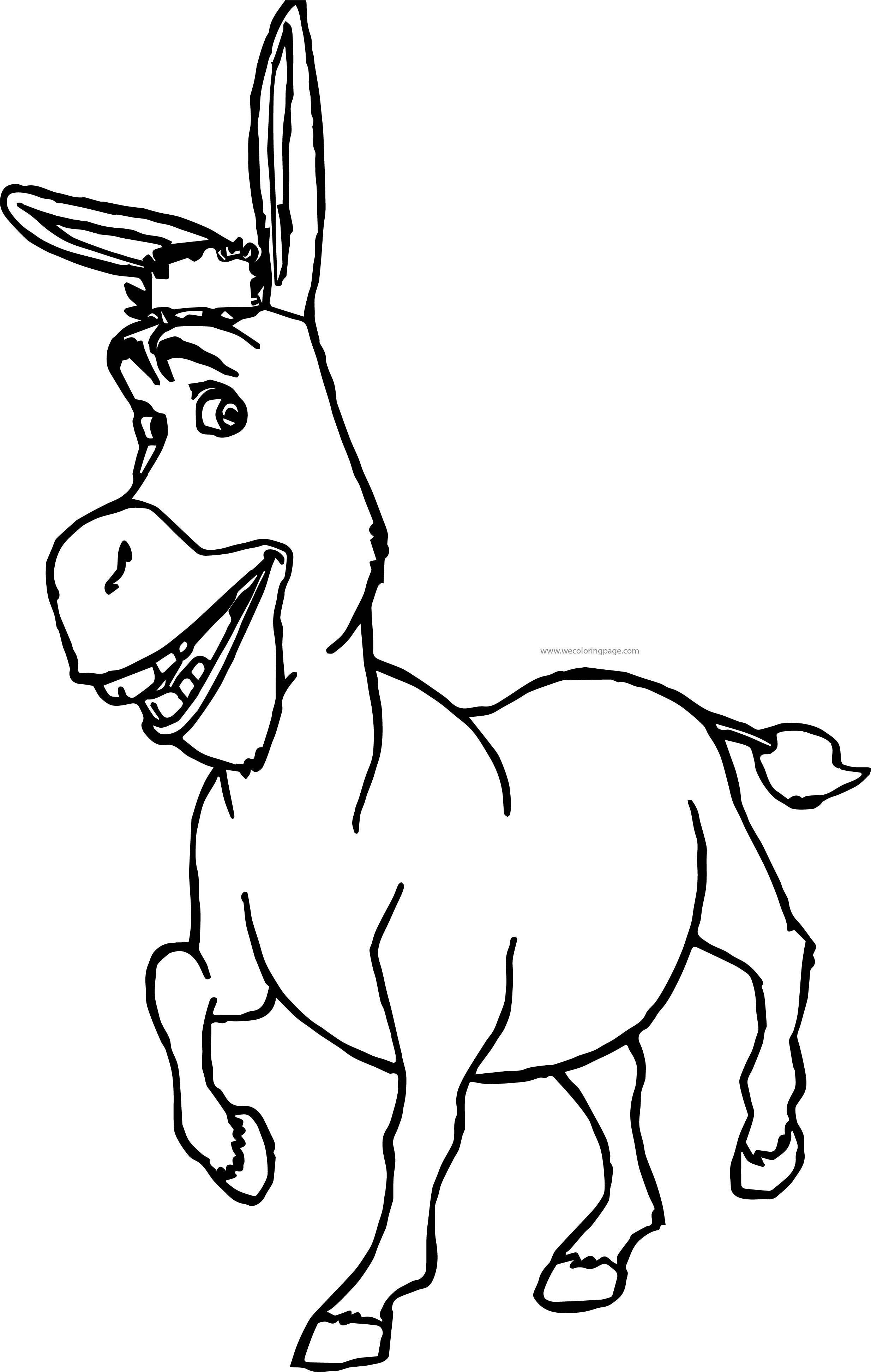 Shrek Donkey Waiting Coloring Page