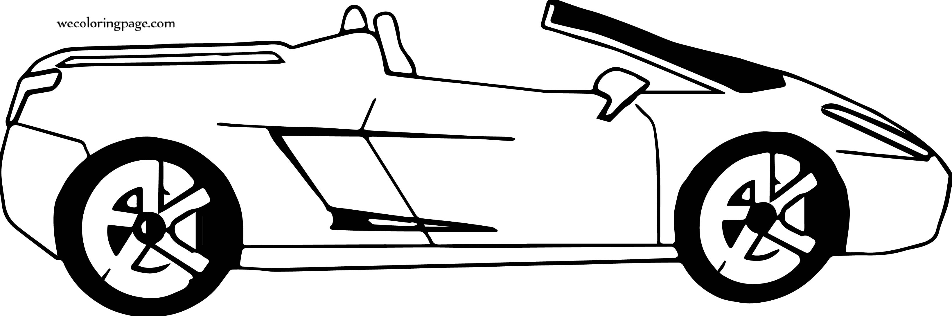 Side Sport Car Coloring Page
