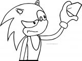 Sonic The Hedgehog Glass Coloring Page