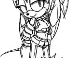 Sonic The Hedgehog New Young Girl Coloring Page