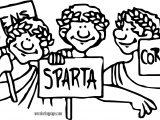 Sparta Athena Coloring Page