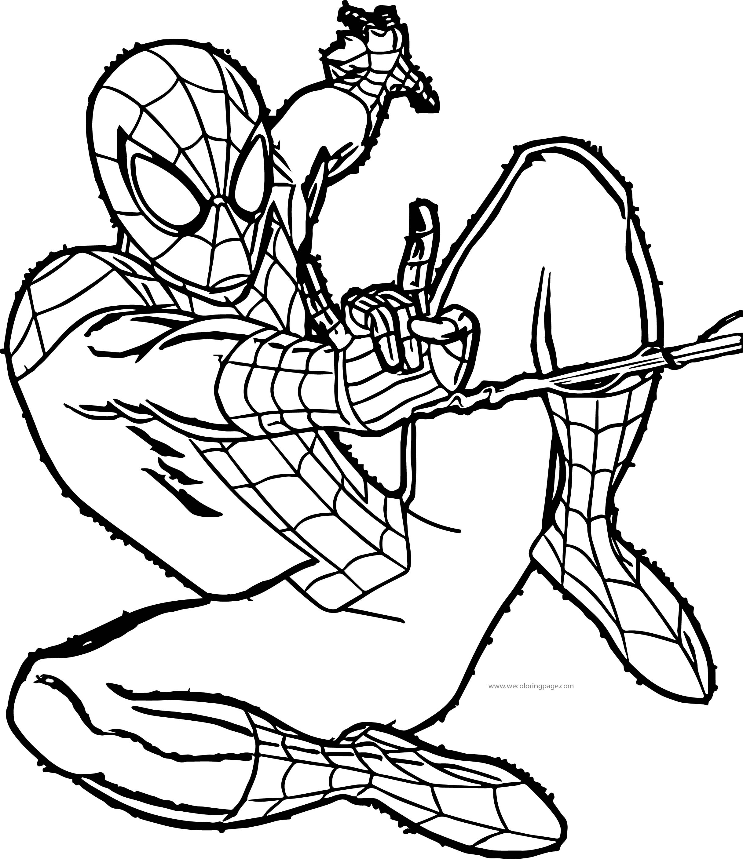 Spider Man Fast Net Coloring Page