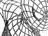 Spider Man Half Face Coloring Page