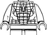 Spider Man Lego Front View Coloring Page