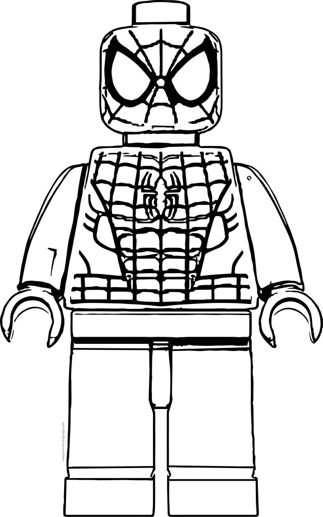 Spider Man Lego Front View Coloring