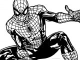 Spider Man Looking Down Coloring Page