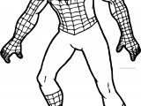 Spider Man Pose Coloring Pages