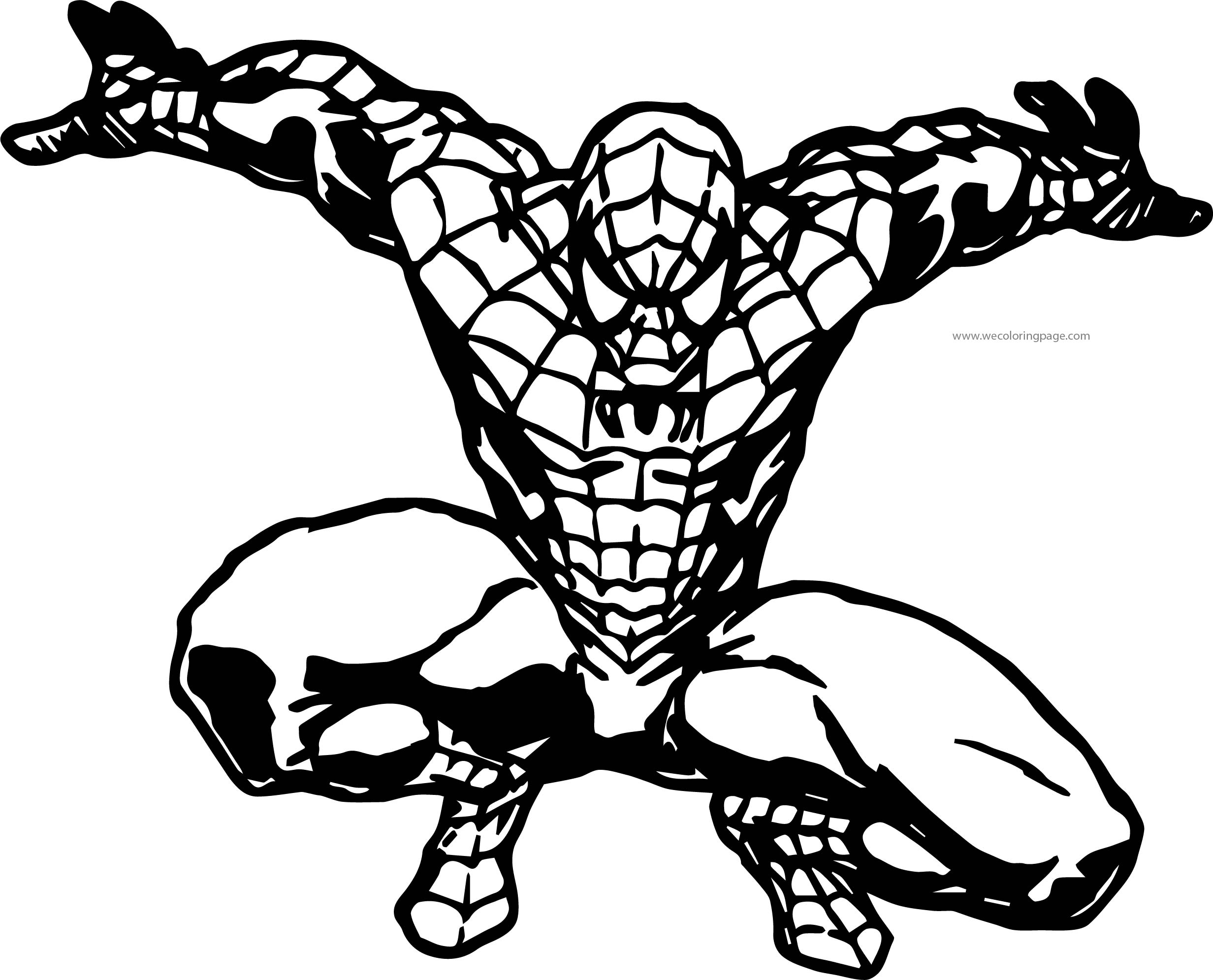 Spider Man Wall Waiting Coloring Page