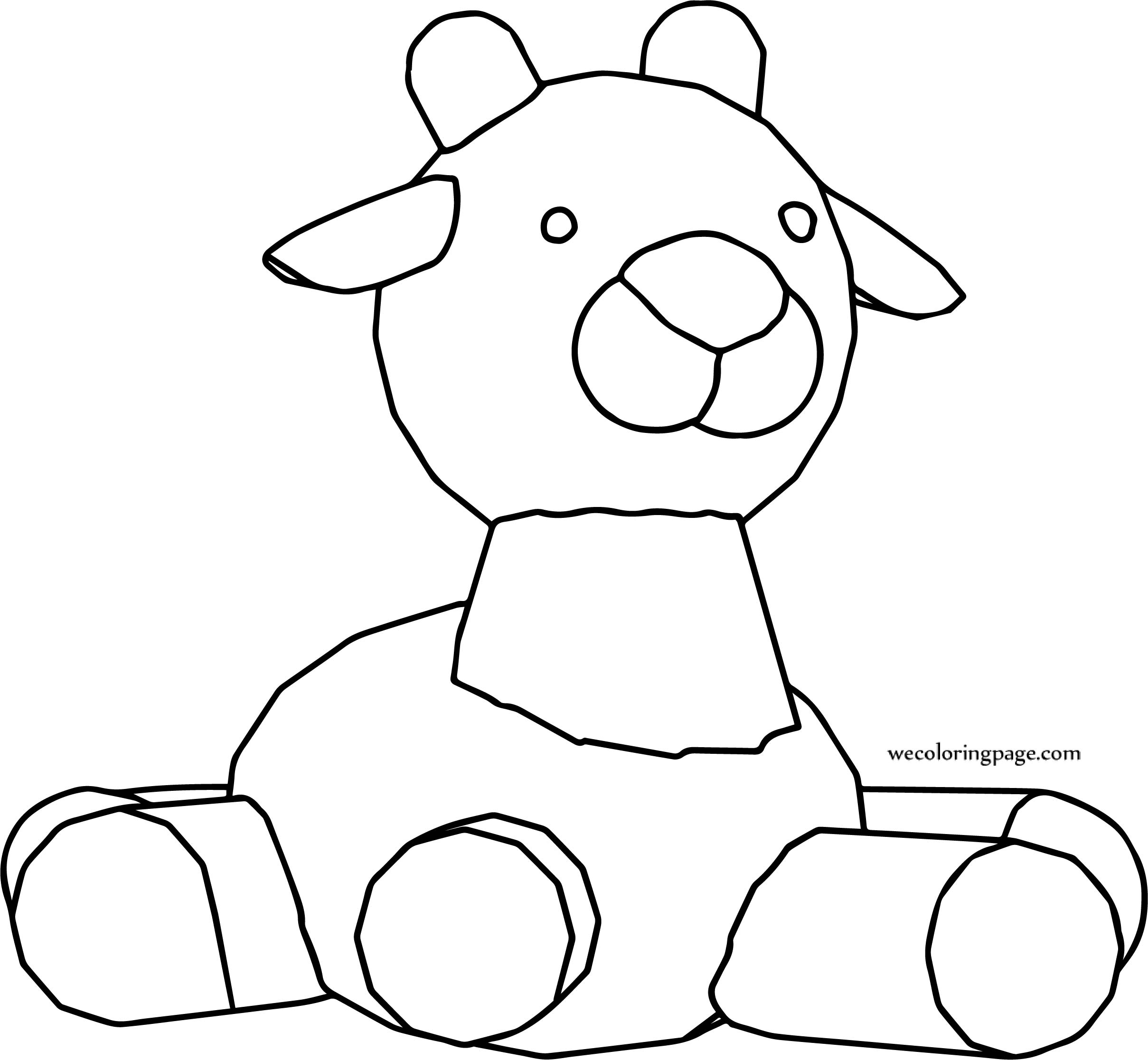 Staying Horse Cartoon Coloring Page