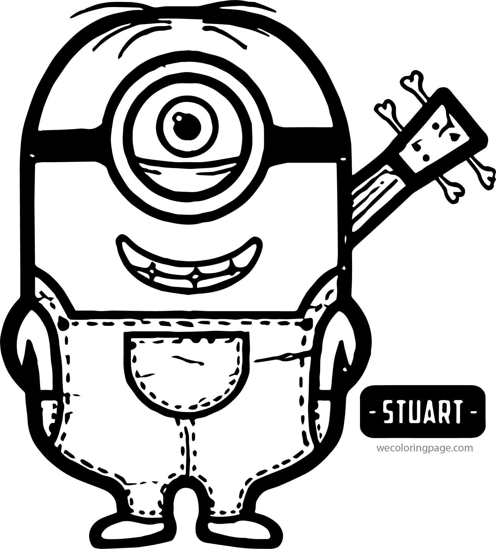 Stuart Minions Coloring Page