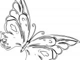 Style One Butterfly Coloring Page