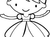 Style Princess Ballerina Coloring Page